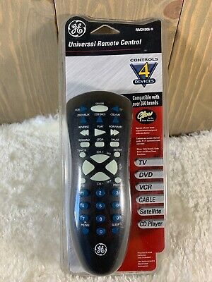 GE  Universal Remote Control  P/N RM24906: Controls 4-Devices