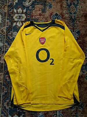 7eacf826896 Nike Arsenal Thierry Henry 2005 2006 Yellow Away Jersey Highbury Men s L VTG