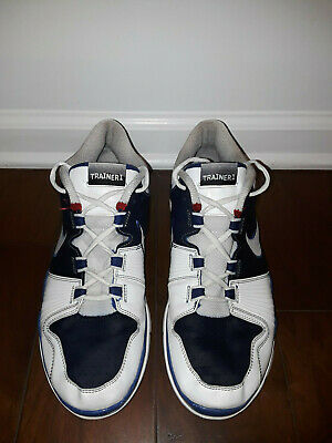 2009 Nike Air Trainer 1 Los Angeles Dodgers White Rush Blue Red 371378-115, 11.5