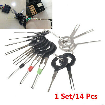 14Pcs Car Terminal Removal Tool Wiring Connector Extractor Puller Release Pin