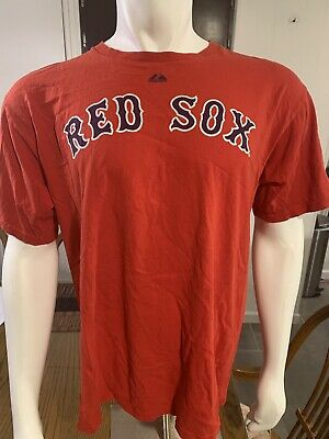 17a35fb7a Mlb Boston Red Sox Youkilis  20 Collectible men s Majestic T-shirt Size  Large
