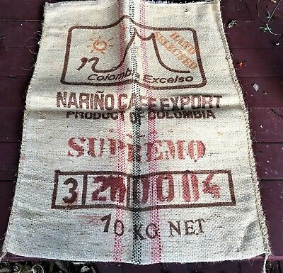 Extra large~Columbia coffee bean sack burlap bag advertising