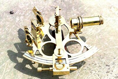 Handmade Sextant Nautical Marine Instrument Astrolabe Ships Marine Sextant 9""