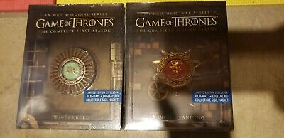Game of Thrones Season 1 2 Best Buy STEELBOOK Blu-ray/Digital First Second NEW!!