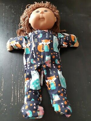 Homemade Cabbage Patch Doll Navy Blue with Animals  Coverall Pyjamas