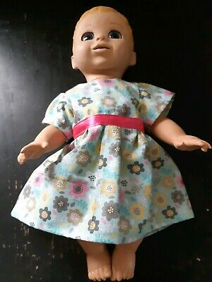 Homemade Baby Luvabella Green With Flowers Dress