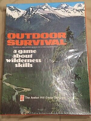 New Outdoor Survival Game Wilderness Skills Avalon Hill Vintage 1972 Camping