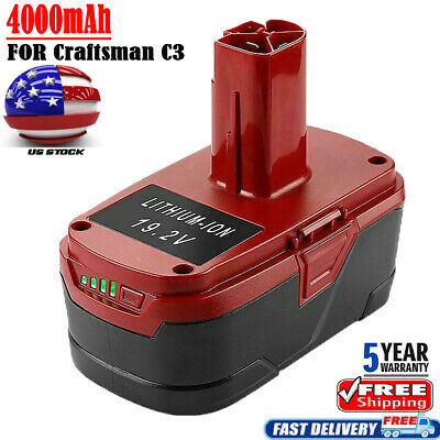 For Craftsman 19.2V 4.0AH XCP Lithium-ion C3 Diehard Battery 11375 PP2025 PP2030
