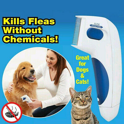 Pet Flea Electric Flea Comb Great for Dogs &amp Cats  Brush Anti Tick Control