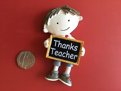 SCHOOL BOY TEACHER Personalised Wooden FRIDGE MAGNET Fun Thank you Gift