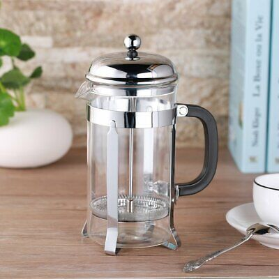 ICOCO Glass Coffee/Tea French Press - Stainless Steel 8 Cup (1 liter, 32 oz) CL