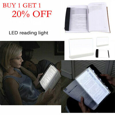 Creative LED Book Light Reading Night Flat Plate Portable Car Travel Panel Lamp#
