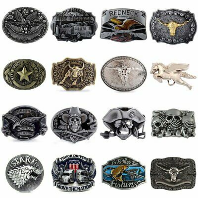 Men/'s Vintage Fire Fighter Alloy Metal Fashion Belt Buckle Mens Western Cowboy