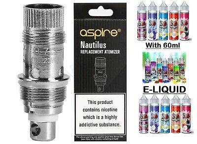 Aspire Nautilus 2S Replacement Atomizer Coils 0.7ohm, 1.6ohm, 1.8ohm (Pack of 5)