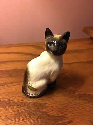 Vintage Beswick Siamese Kitten Cat  #1887 Made in England