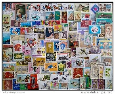 WORLDWIDE Foreign Countries 500 All Different Genuine Postage Stamps-Large Only