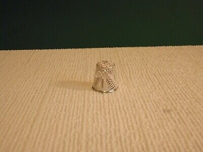 Ornate Vintage Handmade 925 Silver Filigree Thimble - Pristine Condition