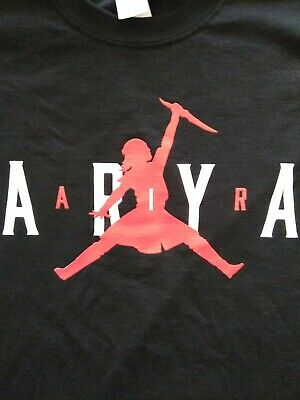 Black Arya Game of Thrones Stark TShirt sizes L large white walker killer