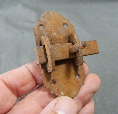 French Antique Handmade Hardware Iron Slide Bolt Latch Lock Country Rustic