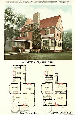 Plainfield, N. J.  -  Scientific American Architects and Builders Edition - 1894