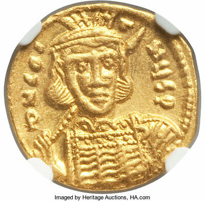 GOLD - CONSTANTINE IV - 668-685 AD - AV SOLIDUS - Ch AU 5/5 4/5 - A BEAUTY COIN!