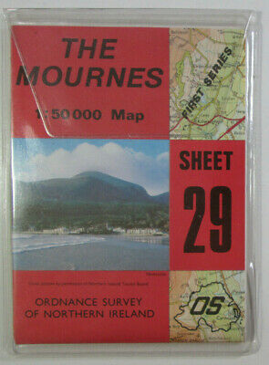 1987 OS Ordnance Survey of N Ireland 1:50 000 Discoverer Series Map 29 Mournes