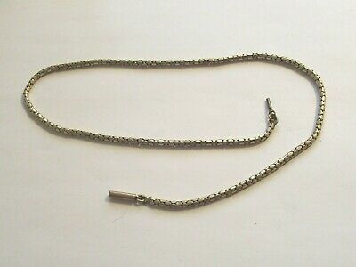 """Antique Victorian Gold Plated Snake Link Necklace 17½"""""""