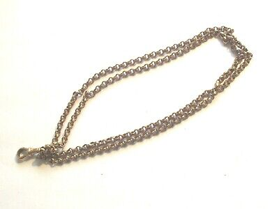 Antique Victorian Gold Plated Muff Chain Bracelet ? Fob ?