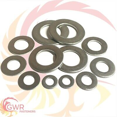 6mm 8mm 10mm 12mm 14mm 16mm 20mm Form B Flat Washers - A2 Stainless Steel