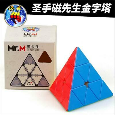 ShengShou Mr.M Pyramid 3x3x3 Magnetic Magic Cube Speed Puzzle Cube Stickerless