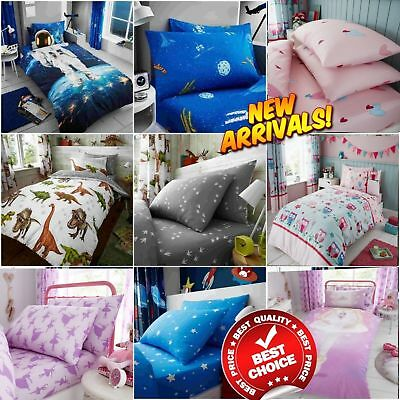 Boys Girl Kids Quilt Cover Duvet Covers Children Bedding Sets Fitted Bed Sheets