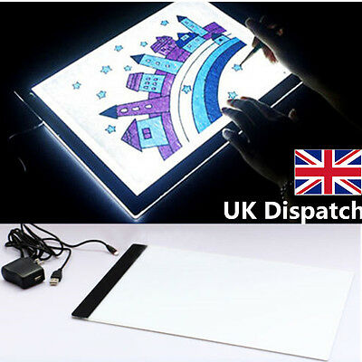 Intelligent A4 Led Stencil Board Light Box Artist Tracing Drawing Copy Plate Table Gift 100% Original Clipboard Notebooks & Writing Pads