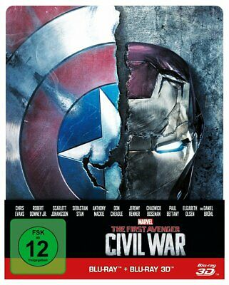The first Avenger - Civil War 3D: 3D+2D, Steelbook  (Blu-ray)