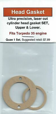 Aftermarket Cylinder Head Gasket 2 PC SET, Upper and Lower, Fits Torpedo .35 NIP