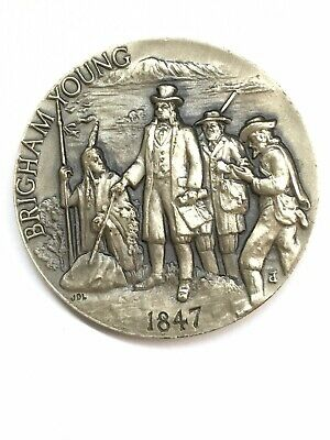 Longines Symphonette Brigham Young 1847 .925 Silver Medal Coin