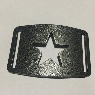 Star Belt Buckle ,Metal,Powder Coated, Use With Nylon Webbing,Grip6 Compatible