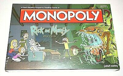 Monopoly Rick and Morty Edition Property Trading Board Game NEW