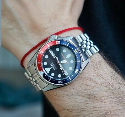 SEIKO DIVER'S AUTOMATIC MODIFIED  SKX009 Strapcode jubilee sapphire Japan made