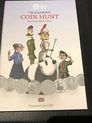 The Royal Mint The Great British Coin Hunt UK 50P Coin Collector Album Brand New