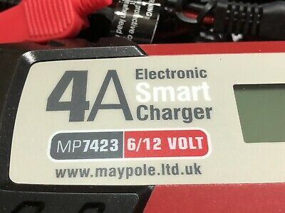 Maypole 4A Electronic Smart Charger Maintenance Car Motorcycle Charger 6v Or 12v