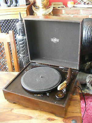 Antique Vintage Columbia Gramophone Record Player Model No 232 in Wooden Case
