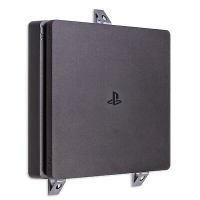 Wall Bracket for Playstation 4 PS4 Slim Game Console - Silver