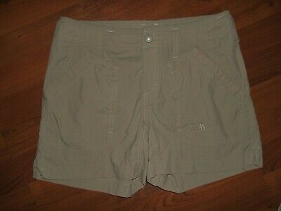 afd916adbc THE NORTH FACE Khaki/Beige Flat Front Stretch Nylon Shorts Women's Size 4  NWOT