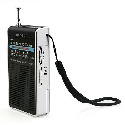 Mini Pocket FM/AM/WB Tuning Radio Speaker Receiver for Outdoors Activities P1M6