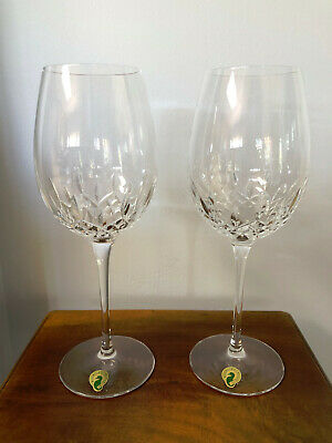 "Waterford Crystal Lismore Essence Wine Glasses, Set of Two, 10"", NIB, #143781W"
