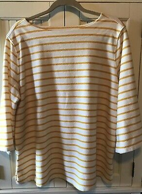 Womens Plus Old Navy Yellow And White Shirt Size 2X NWT