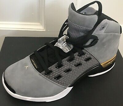size 40 5d85d 6639a Nike Air Jordan XVII 17 Retro Trophy Room Size 9.5 Cool Grey Gold AH7963-023