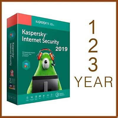 Kaspersky Internet Security 2019 2020 1 PC Device | 1 | 2 | 3 Year - Worldwide