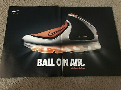 the latest 325ed 4af54 Vintage NIKE AIR MAX 360 Basketball Shoes Poster Print Ad