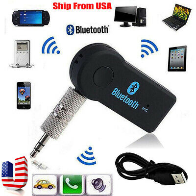 3.5mm Wireless USB Mini Bluetooth Aux Stereo Audio Music Car Adapter Receiver